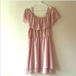 H&M Blush Off The Shoulder Dress